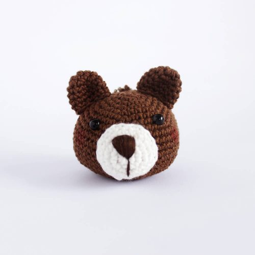 little bear head keychain