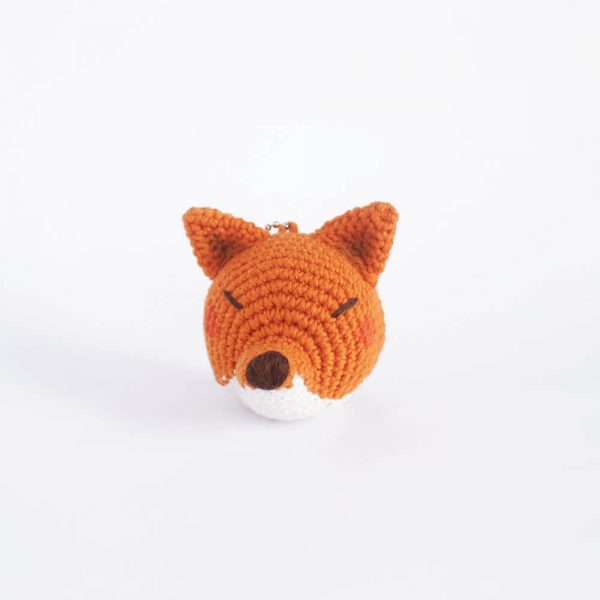 little fox head keychain