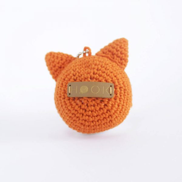 little fox head keychain back look