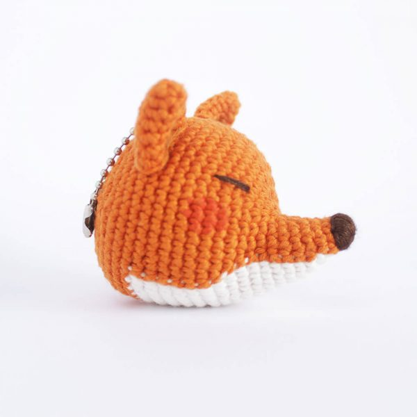 little fox head keychain side look