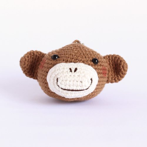 little monkey head keychain
